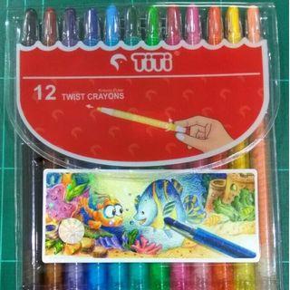 Twist Crayon Titi/Crayon Titi Puter/Krayon Titi Puter isi 12