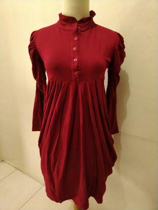 Mididress merah
