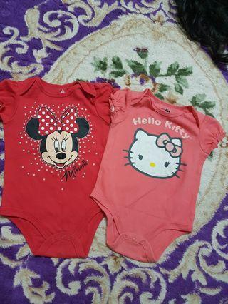 Hello Kitty n minnie Romper