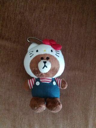 Hello kitty Brown 公仔 毛公仔 doll