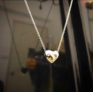 【原價$3800】#半價衣服拍賣會 正品奧地利水晶swarovski施華洛世奇水鑽heart璀璨雙面心型項鍊(水晶愛心項鍊)少一顆水晶