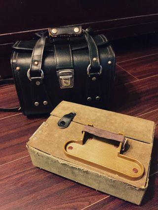 復古皮革攝影箱/相機箱/側背包-再降價