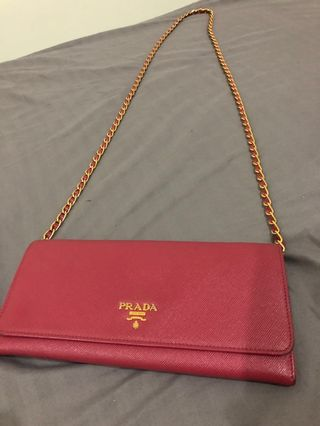 ef06338285b3 prada wallet on chain   Bags & Wallets   Carousell Philippines