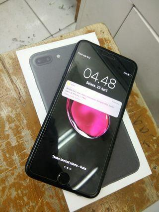 Iphone 7 Plus 128gb Black Inter mulus fullset no rekondisi