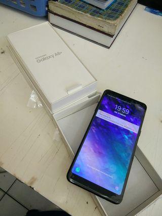 Samsung A8 Plus 6/64 garansi Sein Resmi mulus likenew fulset