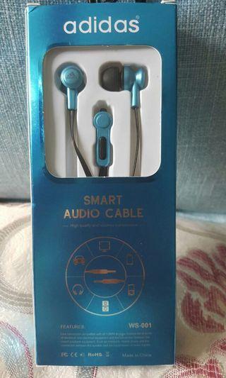 #4/24免運*藍色愛迪達運動耳機