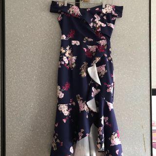 🚚 Off Shoulder Floral Dress