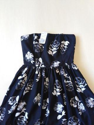 FOREVER21 Floral Strapless Dress