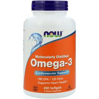 (現貨特價)Now Foods 魚油 DHA/EPA (Omega 3) 200顆軟膠囊
