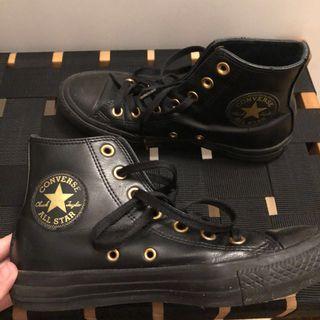 Converse Hi Full Black Leather Size 37