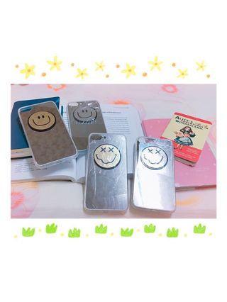 🚚 iphone plus 7 8  5.5吋 + 微笑鏡子俏麗手機殼 GD權志龍笑臉系列