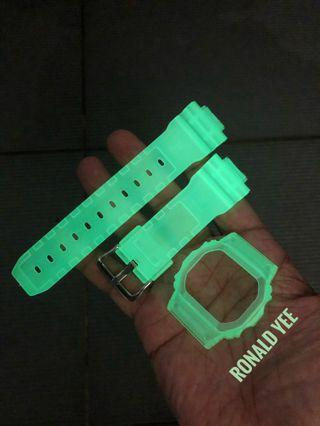 🚚 🤢🤢🤢Glow in the dark replacement strap for Dw-5600 , Dw-5000 , dw5600 , dw5000 Casio G-Shock , gshock , replacement bnb , CASIO