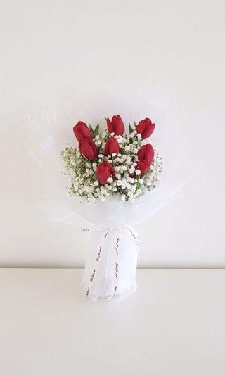 🌟Premium Red Tulip Bouquet