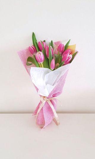 🌟Premium Pink Tulip Bouquet