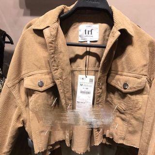 🚚 Zara燈芯絨短版夾克