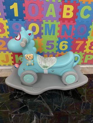 Unicorn rocker 3 in 1 can be detach to become wheels