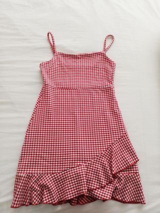 Red Checkered Dress Sportsgirl