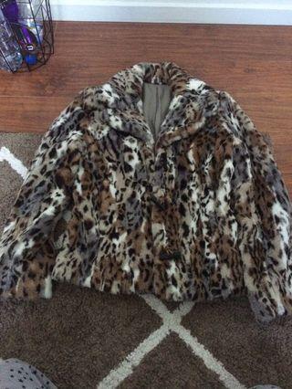 Cheetah print blazer size xs/s