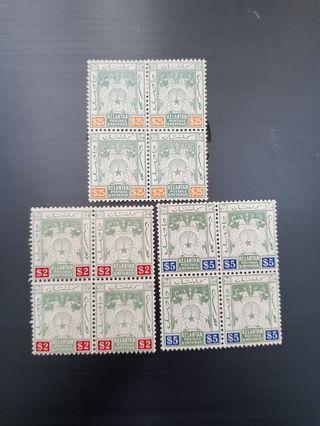 Kelantan 1911 mint stamps