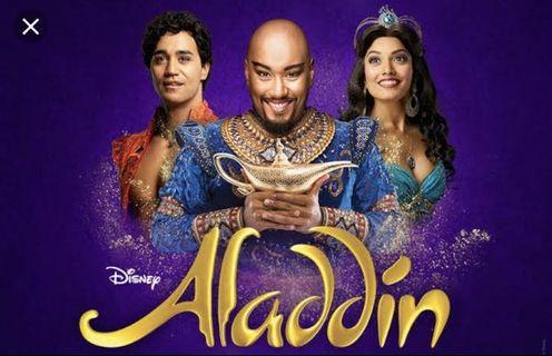 4x ALADDIN THE MUSICAL TICKETS ADELAIDE