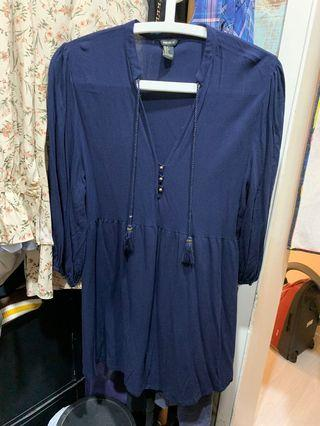 Forever21 連身裙 Navy