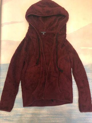 AE hooded jacket - red