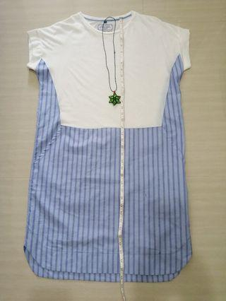 日本制直間連身裙淺藍色