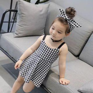 女童黑白格仔裙