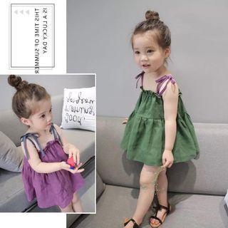 女童清涼吊帶裙