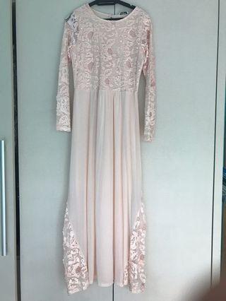 Miss Selfridge light pink dress