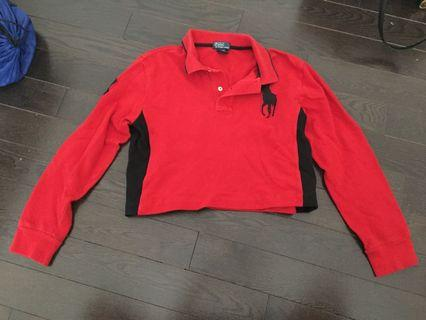 Red Cropped Ralph Lauren Polo