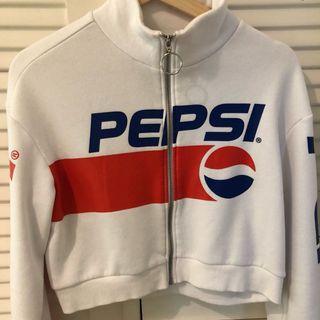 PEPSI cropped zip jumper