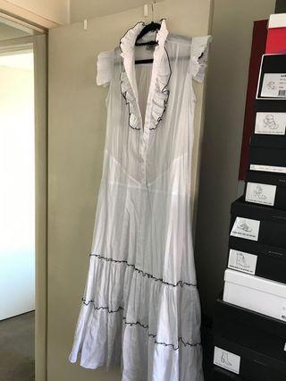 State of Georgia sheer white dress