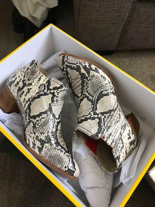 Boden Leather Snakeskin boots