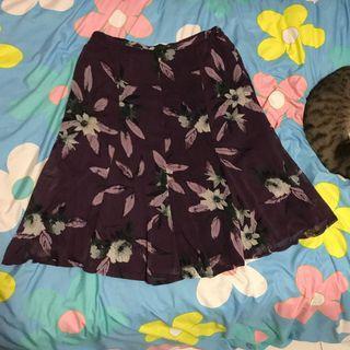 🚚 美國購入 SAGHARBOR 漂亮葡萄紫花朵設計長裙半身裙 有內裡
