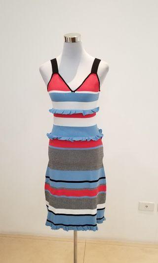 miu miu knit stripes dress
