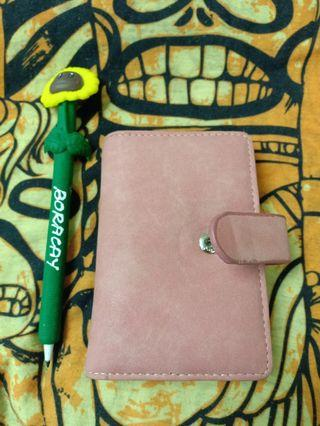 Pink card & money wallet