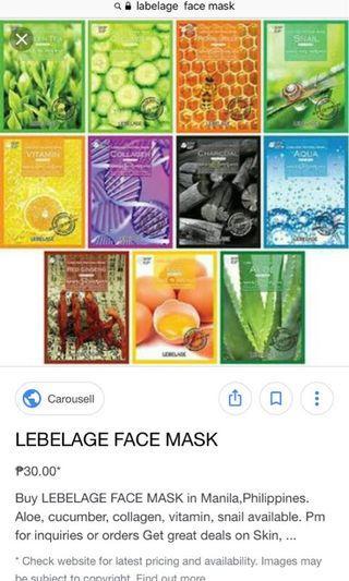 labelage korean mask