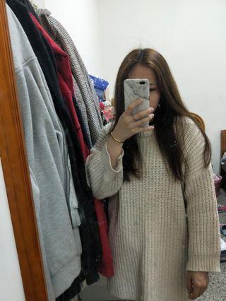 🚚 冬季厚款開衩毛衣