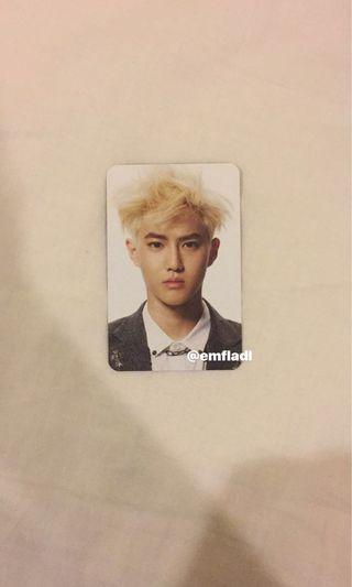 EXO Suho Overdose Official Photocard