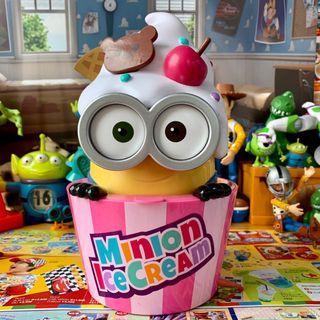 小小兵 置物盒 爆米花桶  冰淇淋 甜筒 櫻桃 罐子 小黃人 神偷奶爸 動畫 迪士尼 皮克斯  造型