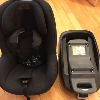 Maxi-Cosi Pearl Car Seat (Modern Black) & Maxi Cosi ISO FamilyFix