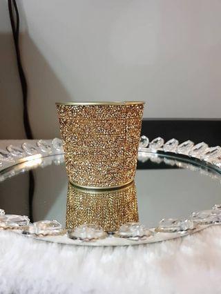 Glam Home Decor Gold Vase Container Multipurpose
