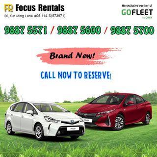 Brand New Prius +  (GOJEK RENTAL REBATE)