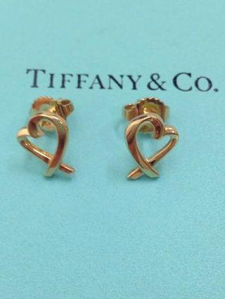 Tiffany & Co. Loving Heart Earrings in 18k Yellow goldAU 750 黃色金耳環Excellent condition可到店陪驗