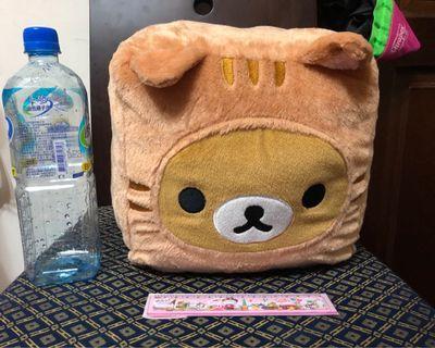 🚚 🔵娃娃機夾入🔵懶懶熊。貓咪方塊拉拉熊吐司絨毛抱枕靠枕