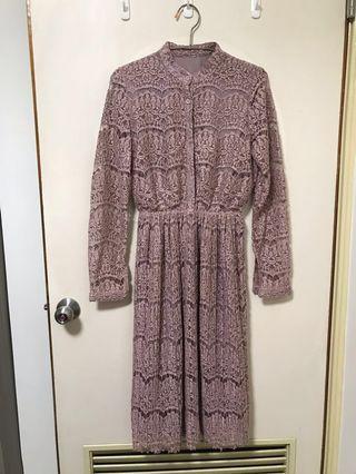 🚚 粉色蕾絲小洋裝 半價出售
