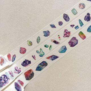 Crystal quartz gem washi tape set