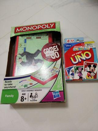 🚚 Monopoly and uno