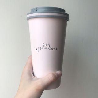 🚚 隨行保溫杯 咖啡杯造型 韓國字 免運(4/24)
